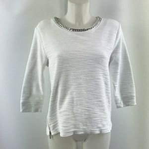 Karl Lagerfeld White Long Sleeve Blouse Size XS